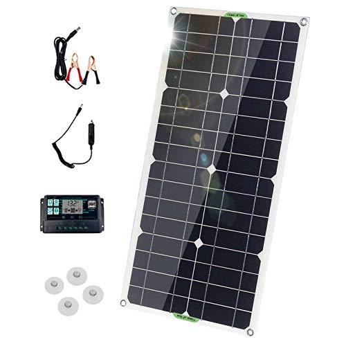 100W 18V Solar Panel Flexible Plegable Monocristalino Célula Placa Solar con Controlador...