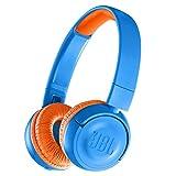 JBL JR300BT 子供向け Bluetoothヘッドホン 音量制御機能搭載/カスタマイズシール付属 ブルー/オレンジ JBLJR300BTUNO 【国内正規品/メーカー1年保証付き】
