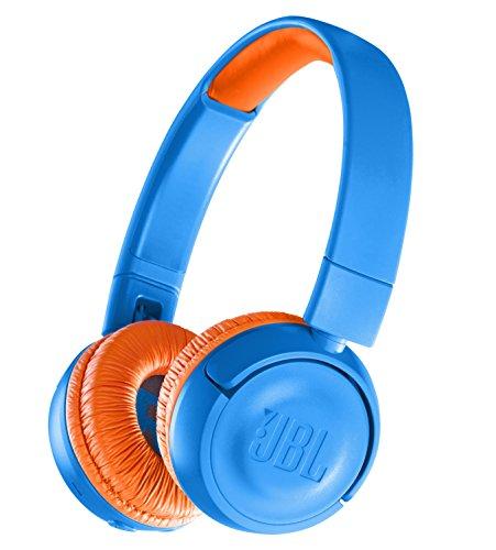 JBL JR300BT 子供向け Bluetoothヘッドホン 音量制御機能搭載/カスタマイズシール付属 ブルー/オレンジ JBL...