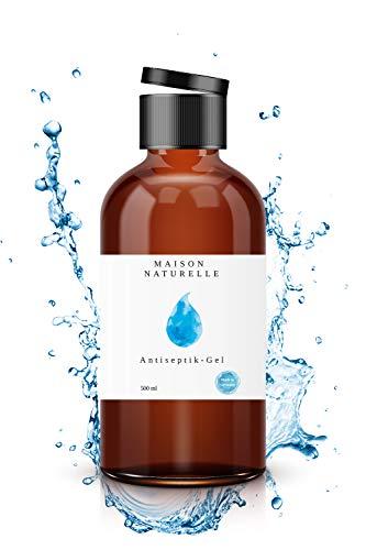 MAISON NATURELLE® – Desinfektionsmittel Hand (10 x 500 ml) – Desinfektionsmittel Haut – Händedesinfektion Gel - Mit hohem Ethanol-Gehalt - mit praktischem Klappverschluss
