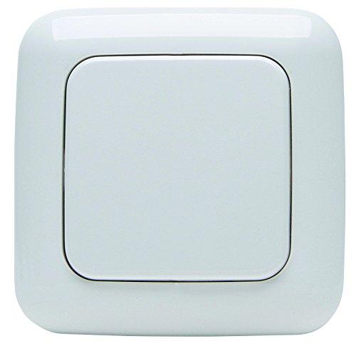 Kopp 822702120 Funk-Wandschalter Free-control Standard 1/2 Funktionen Neue Generation, alpin-weiß