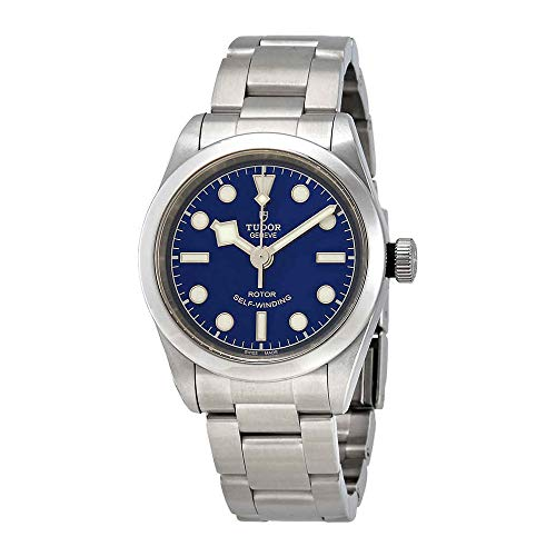 Tudor nero Baia automatico blu quadrante orologio 79580–0003