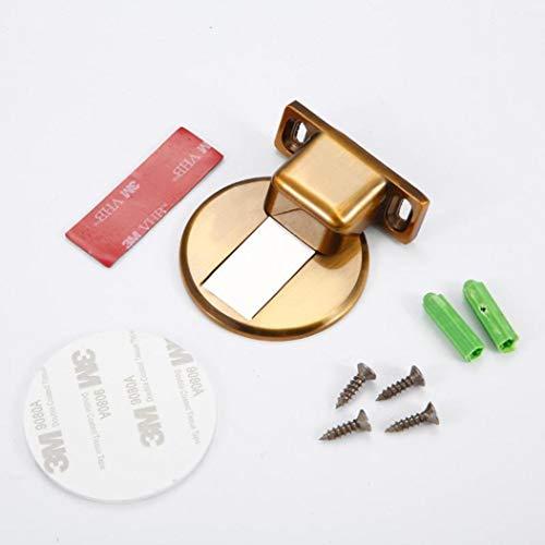 Magnetic Door Stops Stainless Steel Non Scratching Door Stopper Holders Soft Catch Floor Nail-Free Door Stop Home Hardware