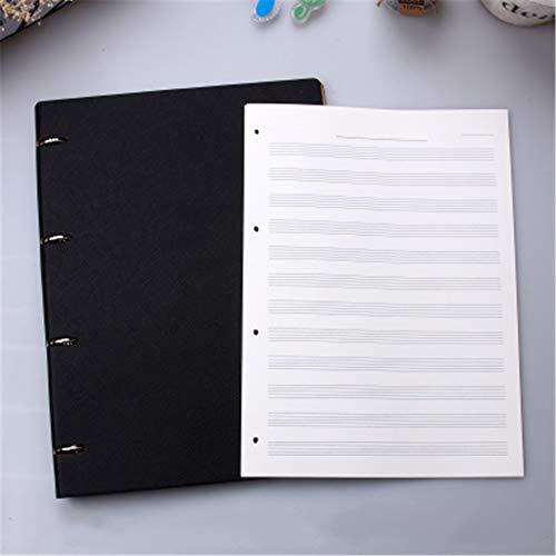 Taccuino A4 Per Fogli Di Musica Manoscritto In Stile Retrò, Carta Per Musica, Taccuino Del Musicista Interno Sostituibile Pagina 31 * 23 * 3Cm