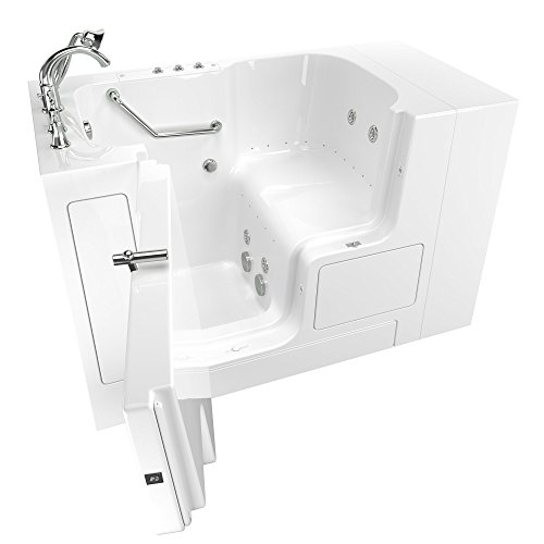 American Standard 3252OD.709.CLW-PC Gelcoat Value Whirlpool and Air Spa 32'x52' Left Side Outward Door Walk-In Bathtub in White