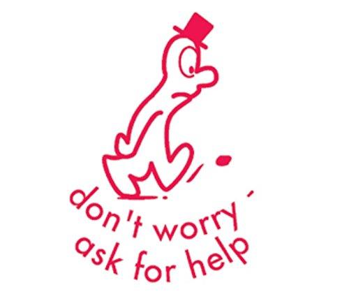 Maak je geen zorgen om hulp te vragen Zelf Inken Leraren Beloning Stempel X11775