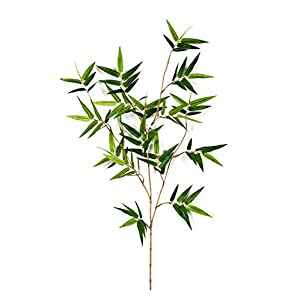 artplants.de Rama de bambú japonés Artificial Jotaro, 105 Hojas, Verde, 60cm – Planta de imitación – árbol