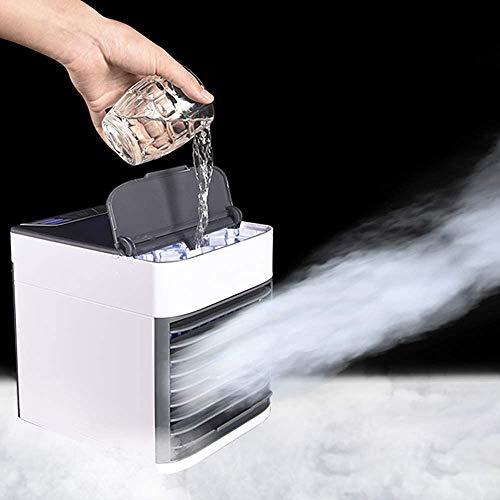 Acondicionador de aire personal, purificador de humidificador de refrigerador de aire Mini, engranaje de 7 velocidades, hogar, oficina, etc,White