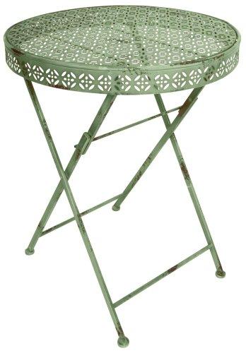 Esschert Design IH Bistro Tisch rund, grün, 58.6 x 58.6 x 73.8, IH008