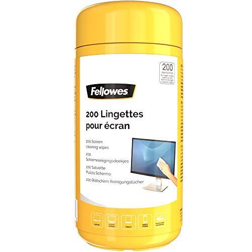 Fellowes 8562901 - Toallitas para limpieza de pantalla, paquete de 200 unidades