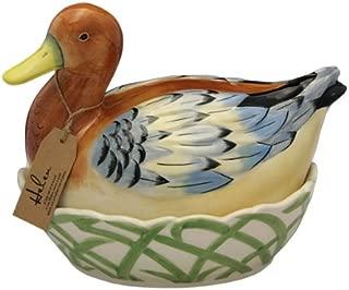 Fairmont and Main Ceramic Egg Basket, Helan Brown/Blue