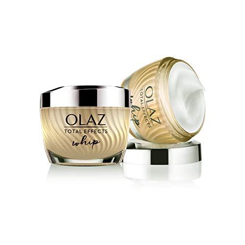 Olaz Total Effects Whip Crema Viso Idratante Attiva, con Texture Leggera come l Aria, 50 ml