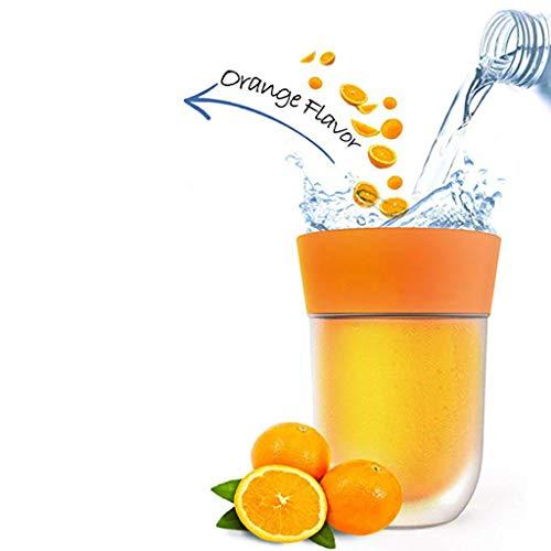 HYCBTC Tragbare Magic Right Cup, Fruit Trinklernbecher Magic Cup Creative Trinkbecher Reines Wasser zu Trinken ist wie EIN magischer Saft, Kinder Saft Tassen,Orange