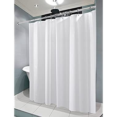 mDesign Waterproof, Mold/Mildew Resistant, Heavy Duty PEVA Shower Curtain Liner for Bathroom Showers and Bathtubs - No Odor, Chlorine Free - 3 Gauge, 72  x 72 , Pack of 2, Frost