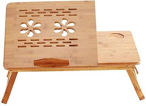 Bandeja ajustable portátil para servir el desayuno con cajón superior inclinable en T
