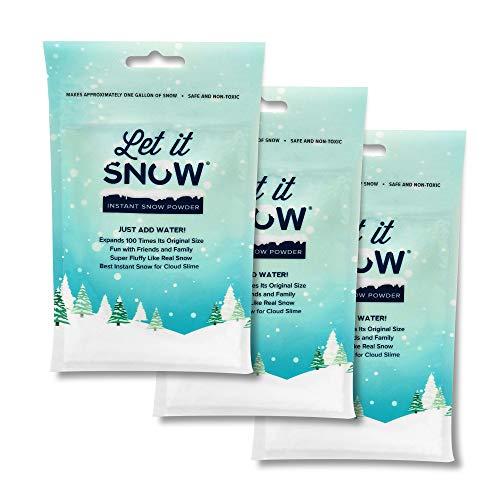 Let it Snow Instant Snow - Premium Kunstschnee Deko - Künstlicher Schnee – Fluffy Slime - Urlaubs- und Winter Deko