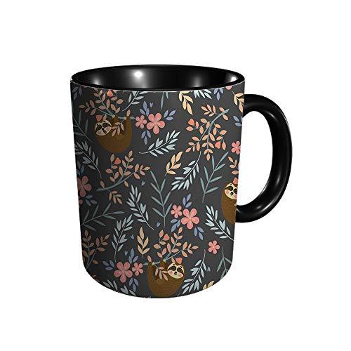 Tasse mit tropischem Faultier, kann für Tapete, beste Freunde, 325 ml