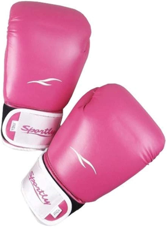 MINHUISHANGMAO ボクシンググローブ、大人ボクシンググローブ、三田、戦う、武道トレーニング機器、ブラック、ホワイト、パウダー。 (Color : ピンク)