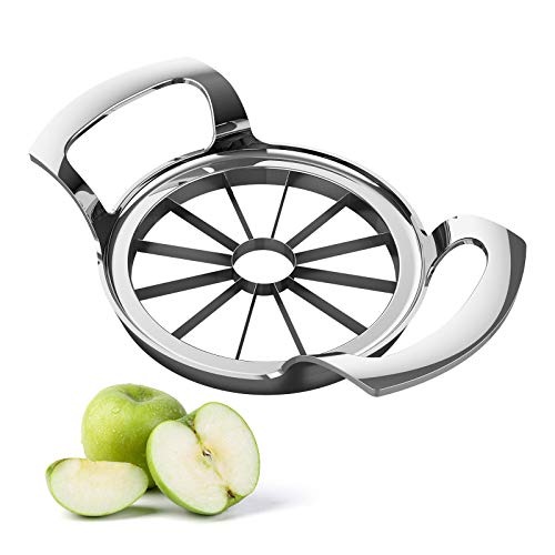CAICO-X Apple Slicer, 12-Blade Stainless Steel Apple Cutter, Sturdy and Sharp