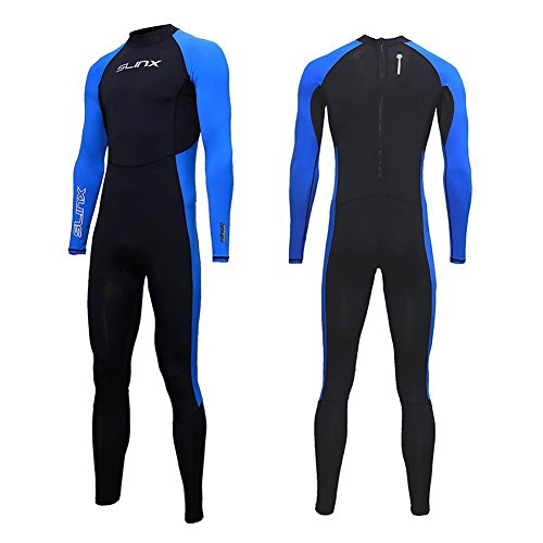 Full Body Dive Wetsuit Sports Skins Rash Guard for Men Women, UV Protection Long Sleeve One Piece Swimwear for Snorkeling Surfing Scuba Diving Swimming Kayaking Sailing Canoeing (M)