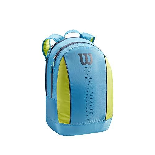 Wilson JUNIOR BACKPACK, 2 Racchette, Blu/Verde (Blu-Lime)