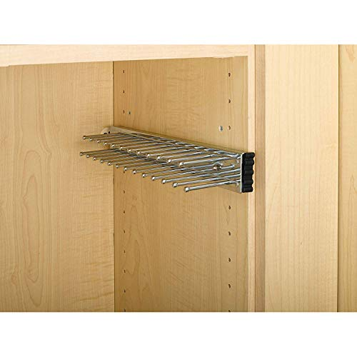 Rev-A-Shelf TRC-14CR 14 Inch Side Mount Extending Tie Organization Rack Chrome