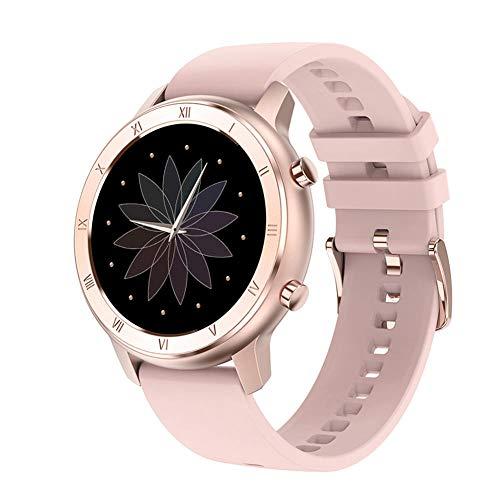 CIVIKY Women Smart Watch, IP68 Wasserdichtes Armband mit Herzfrequenzmesser Schlafüberwachung Sport Smartwatch-Rosa