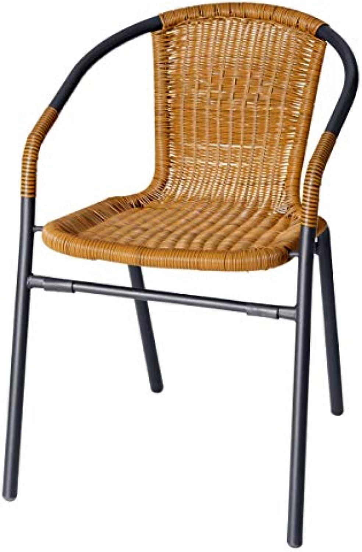 Bistrostuhl Amigo, 53x55.5x75cm (BxTxH), Sitz beige, Gestell schwarz, 4 Stück Packung