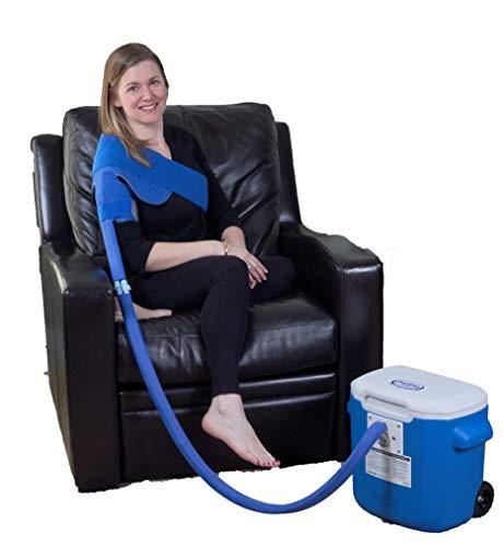 Polar Products Active Ice® 3.0 Shoulder Cold Therapy System with Digital Timer Includes Shoulder Bladder 15 Quart Cooler