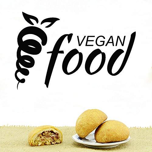 REGF Pegatinas de Pared de Alimentos orgánicos Vegetarianismo Calcomanías de alimentación Saludable Decoración de Comedor Decoración de Restaurante Mural de Arte de Cocina
