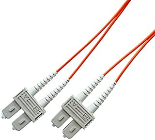 Total Cable Solutions OM1 62.5/125 Multimode Duplex Fiber Optic Patch Cable, SC to SC (2 Meters)