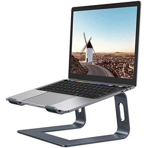 Soporte para portátil, Soporte portátil extraíble de Aluminio, Soporte de Cuaderno ventilado Compatible con MacBook Pro/Air, 10-15.6'Cuaderno y Tableta