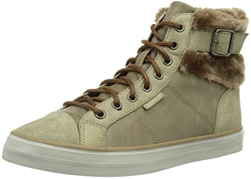 ESPRIT Star Bootie, Damen Hohe Sneakers, Braun (218 taupe brown), 40 EU (6.5 Damen UK)