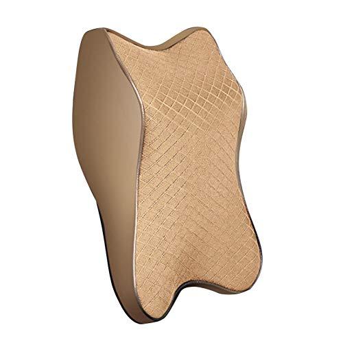 XQRYUB Auto-Nackenkissen Memory Foam Kopfstütze Verstellbares Auto-Kopfstützen-Kissen Travel Neck Cushion Support Holder Sitzkissen
