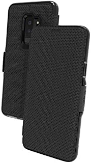 Gear4 Oxford Folio Case with Advanced Impact Protection by D3O, Compatible with Samsung Galaxy S9+ – Black
