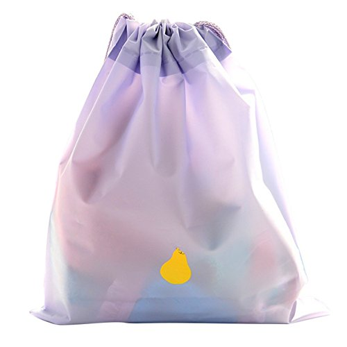 Qingsun Qinlee Pochette Multifonction Sacs avec Cordon de Serrage Sac Sac à Cordon Rangement Stockage pour Voyage Vetement-Taille 23 * 30cm(Violet)