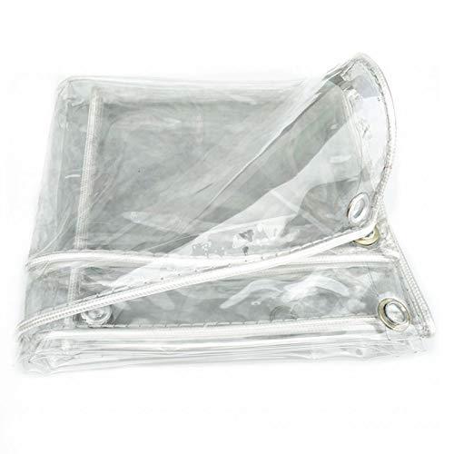 GFSD Lona Transparente Impermeable, con Ojal A Prueba de Polvo Alta Transparencia Lona Impermeable, Al Aire Libre Invernadero Jardín Toldos Aislamiento, 23 Tamaños (Color : Clear, Size : 2x4m)