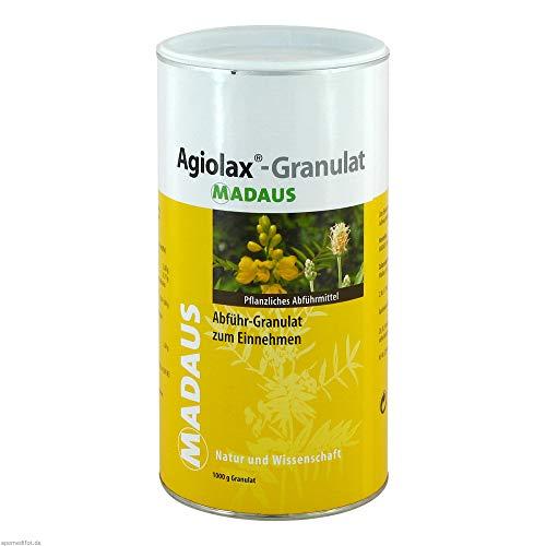 Agiolax Madaus 1000 gr Granulat. Gegen Verstopfung gewachsen. Stimulierende und regulierende Wirkung, fördert einen weichen Stuhl.
