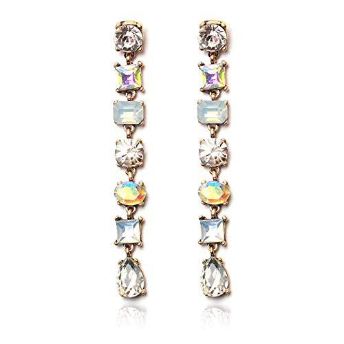 Gymqian Pendientes Imitados Diamantes Geométricos Imitones Gemstones Ladies Pendientes Largos Pendientes Y Accesorios para Mujer Joyería Moda/B
