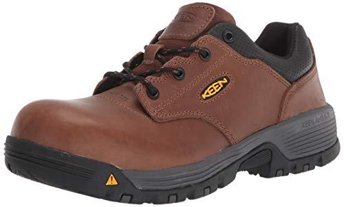 KEEN Utility Men's Chicago Oxford Low Composite Toe Work Shoe, Tobacco/Black, 8...