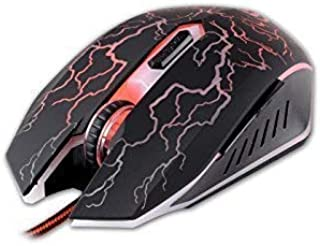 Optische PC Gaming Maus Diablo 2400 DPI 6 Tasten mit Kabel Ergonomisch LED Beleuchtet Einstellbare DPI Breite Tasten für Laptop, Computer