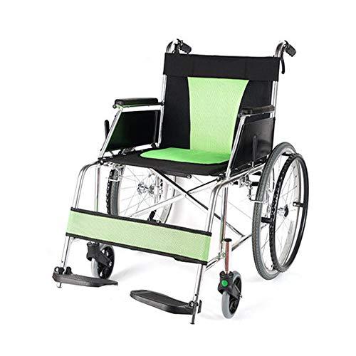 Rollstühle mit Selbstantrieb, Rahmen aus Aluminiumlegierung & Feste Volle Arme, Medizinischer Transportrollstühle, Atmungsaktives Kissen, Sitzbreite 45cm