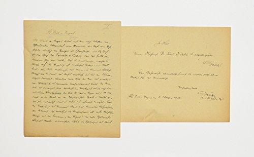 """""""St. Veit a. Vogau"""". Dt. Handschrift auf Papier."""
