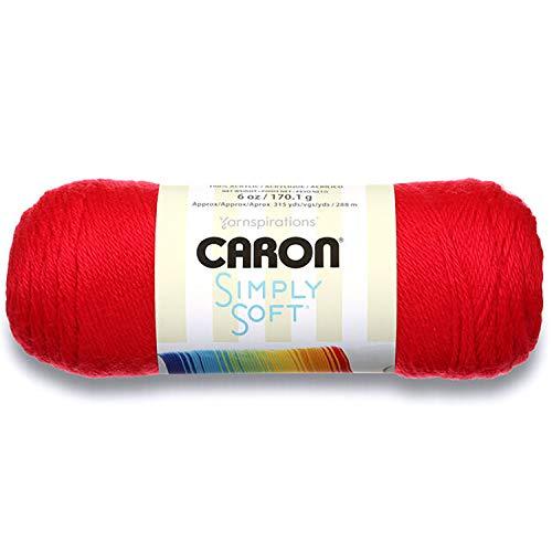 Caron Simply Soft Yarn Red