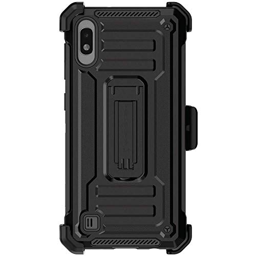 Ghostek Iron Armor2 Military Grade Case with Holster Belt Clip Designed for Galaxy A10 – Black