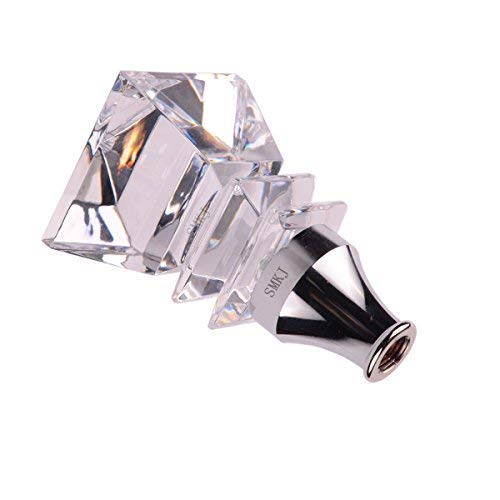 SMKJ Square Crystal Shape-Touch Sensor LED Colorful Changing-Manual Automatic Shifter knob Universal Gear Stick Shift knob fit for Most Transmission Vehicles