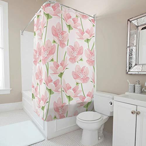 LAOAYI Blaugrüne Blase Muster Duschvorhänge Farbfest & Schimmel Resistent Vorhang Badewannenvorhang für Badezimmer 180x200cm