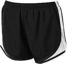 Ladies Moisture-Wicking Track & Field Running Shorts. Black/White, size L