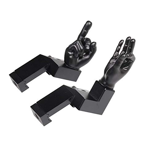 Stinger Novelty Finger Sight Set, Fixed Offset 45 Degree Backup Front and Rear Iron Sight BUIS Set, OK Hand and Middle Finger, You Looked & Flip Off, Fit Picatinny Rail and Weaver (Offset 45 Degree)