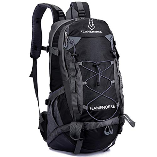 N\ A Casual Backpack, Casual Camping Trekking Rucksack, Ultra Lightweight Daypack, Small Hiking Rucksack Foldable, Outdoor Water Resistant Packable Daypack for Hiking Cycling black